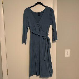 Maternity faux wrap dress